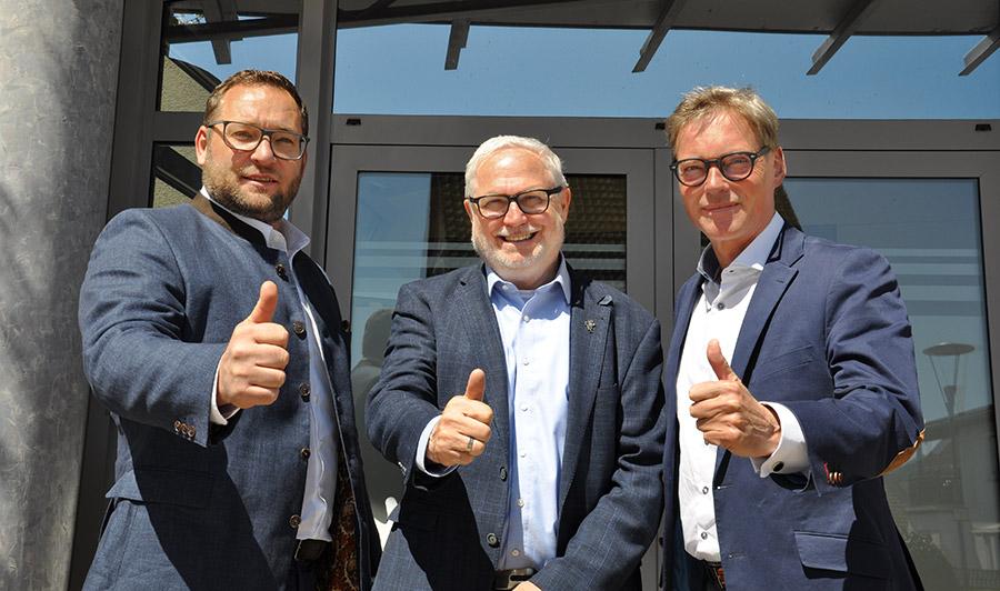 Stiftungsvorstand: v.l.n.r.: Tycho Singer, Franz-Josef Fischer (Vorsitzender), Markus Kärcher