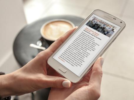 Unser Newsletter macht auch auf Ihrem Smartphone eine gute Figur.