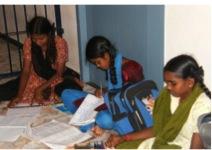 Unterricht und Unterbringung für Mädchen in Not.