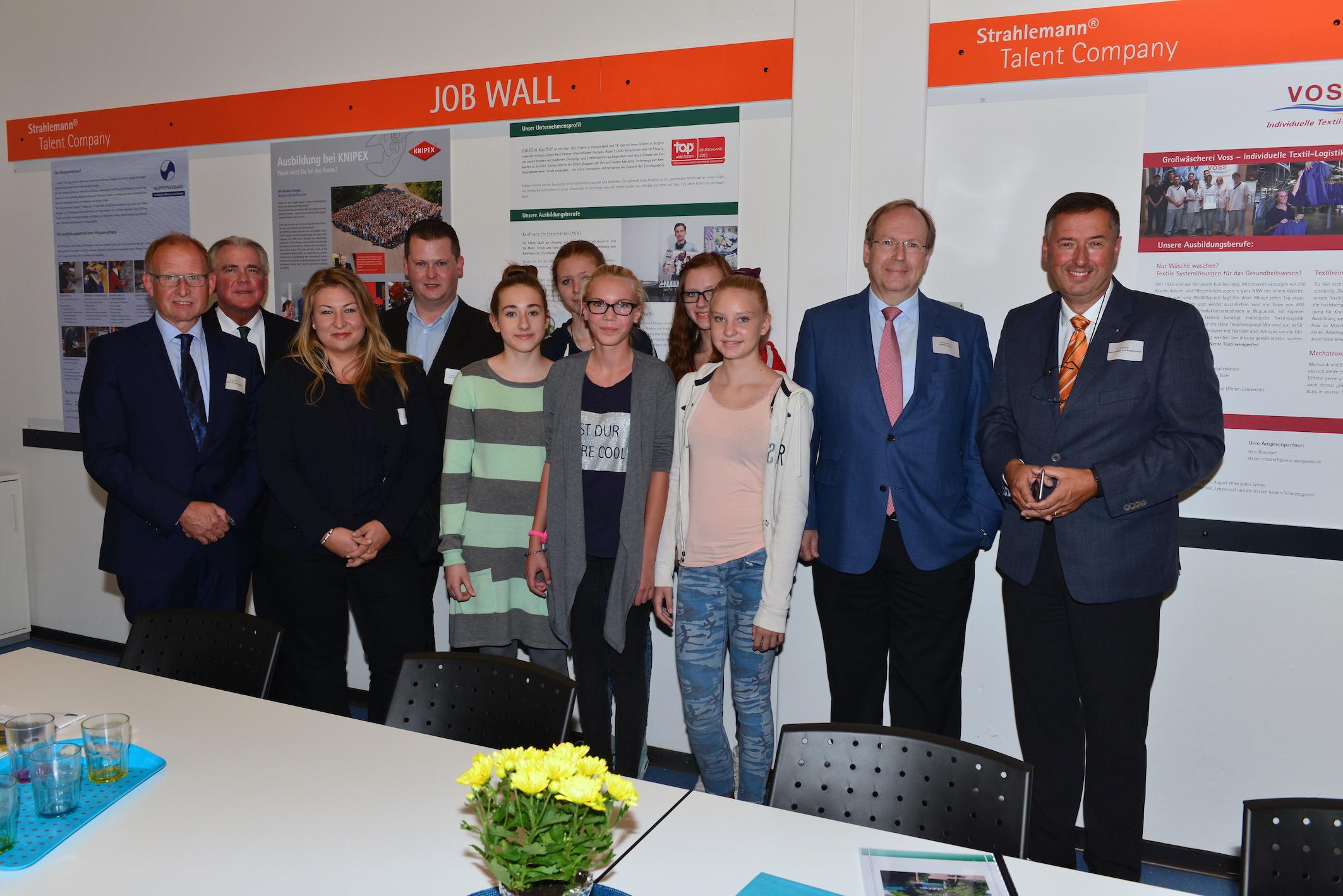 Die Unterstützer der Talent Company Wuppertal.