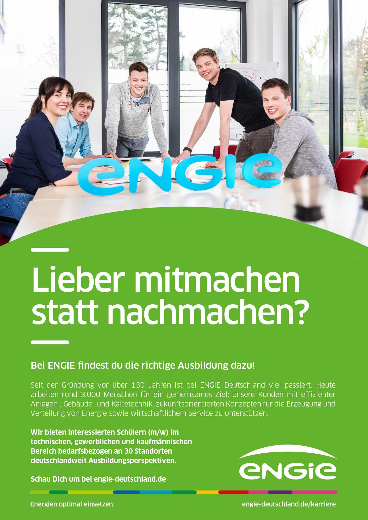 Ausbildungsplakat: ENGIE Deutschland GmbH
