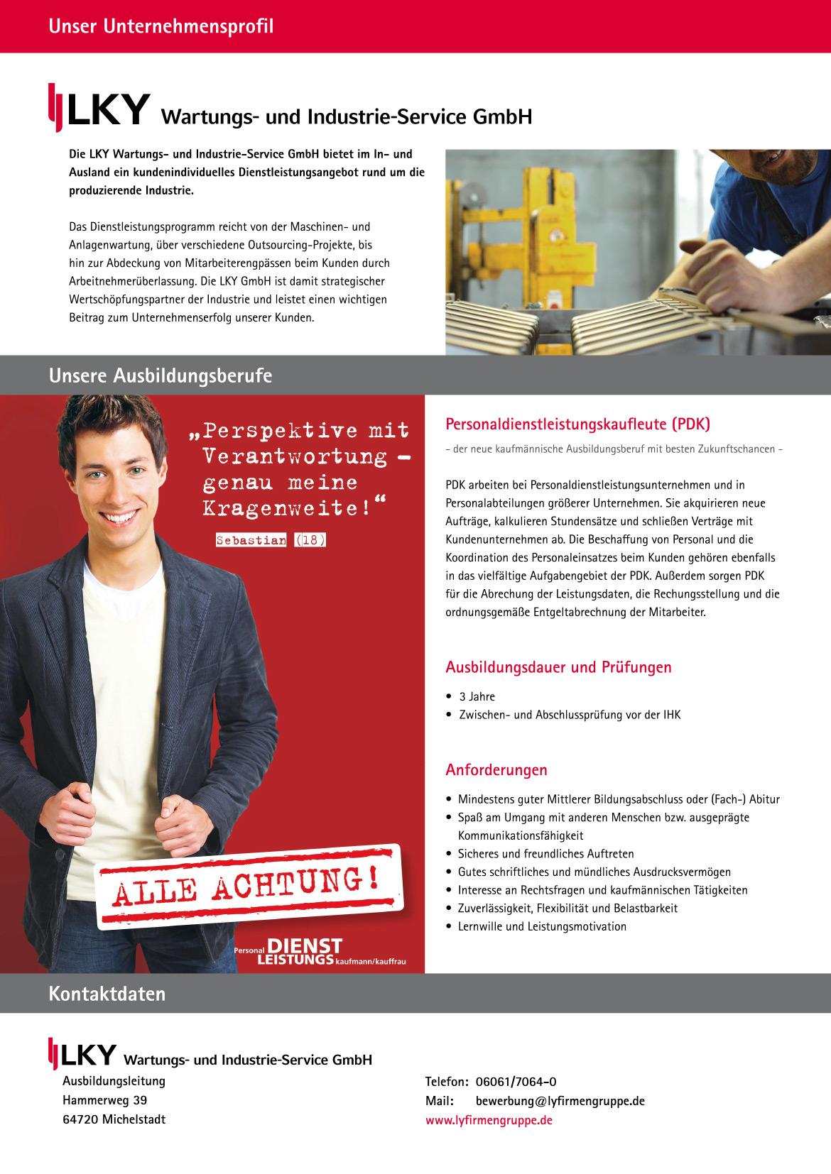 Ausbildungsplakat: LY-Holding GmbH