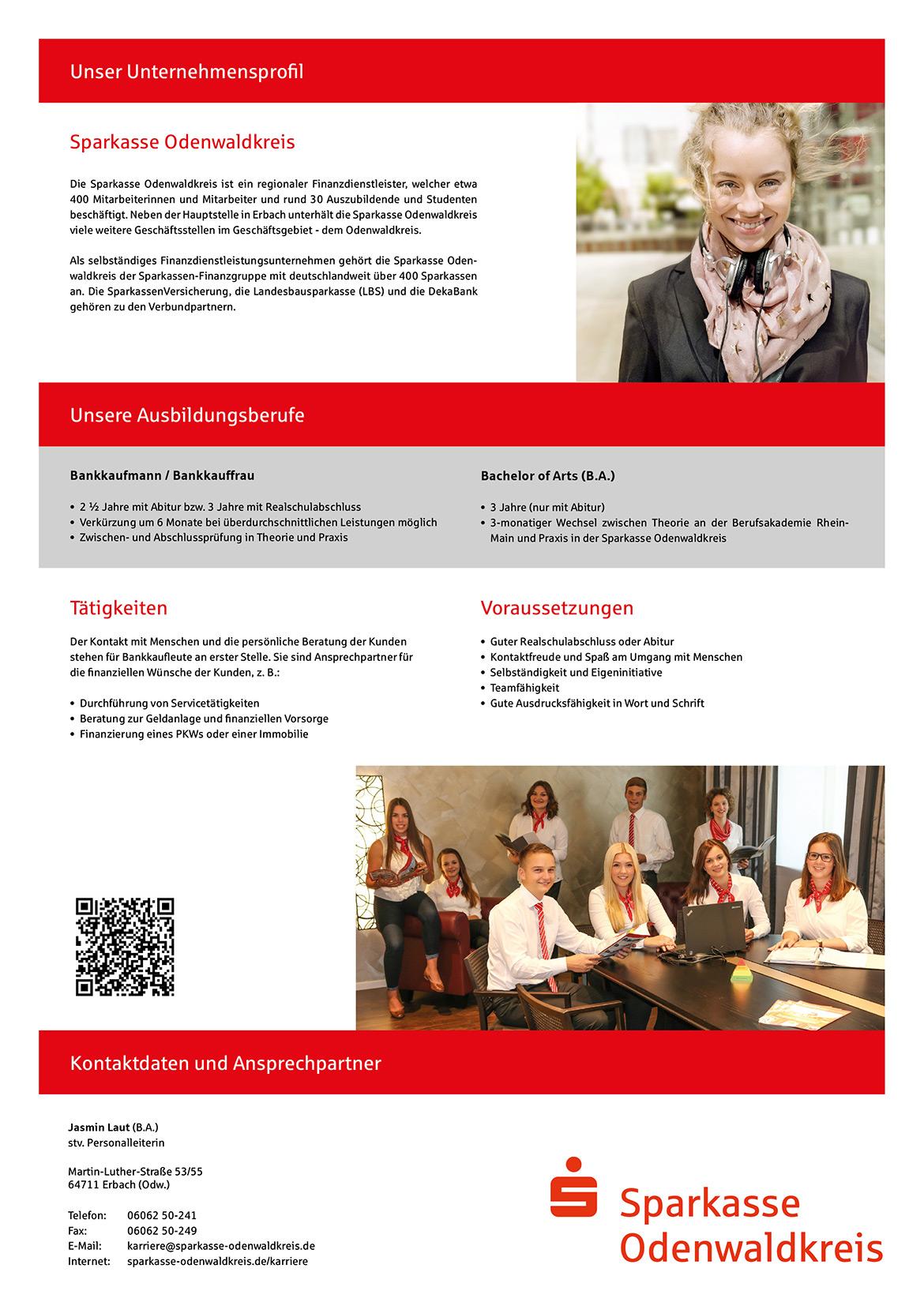 Ausbildungsplakat: Sparkasse Odenwaldkreis