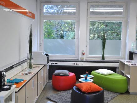 Räumlichkeiten der Talent Company an der Otto-Hahn-Schule in Hamburg