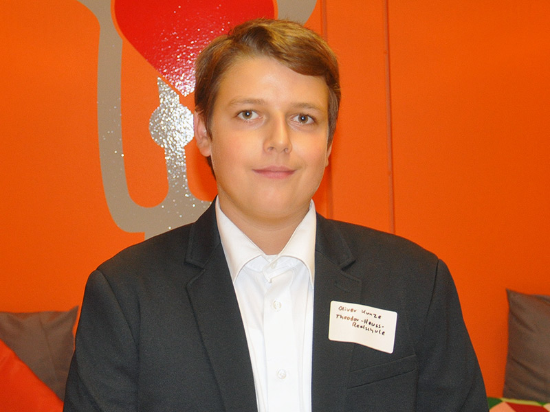 Oliver Kunze - 1. Schülervertreter, 15, 10b