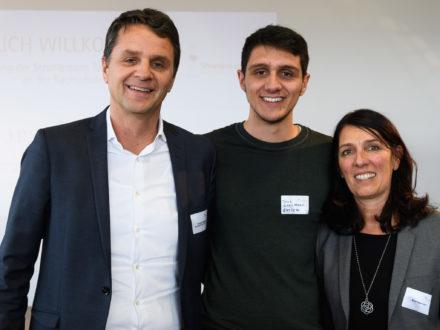 Eröffnung der Strahlemann Talent Company in Offenbach: Andreas Kegelmann, Geschäftsführer von EURICON GmbH & Co. KG , Jens Kegelmann und Birgit Kegelmann