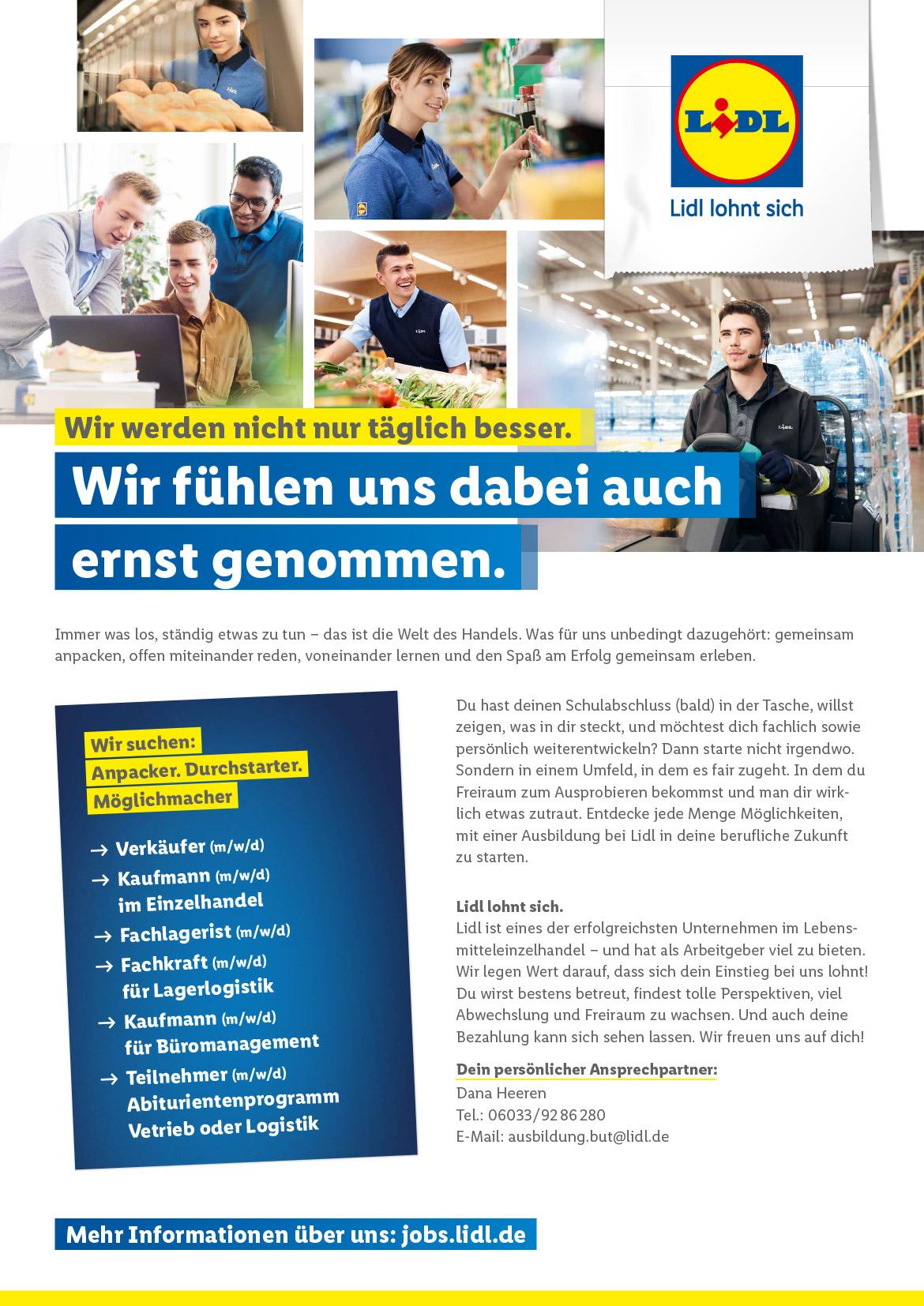 Ausbildungsplakat: LIDL Butzbach