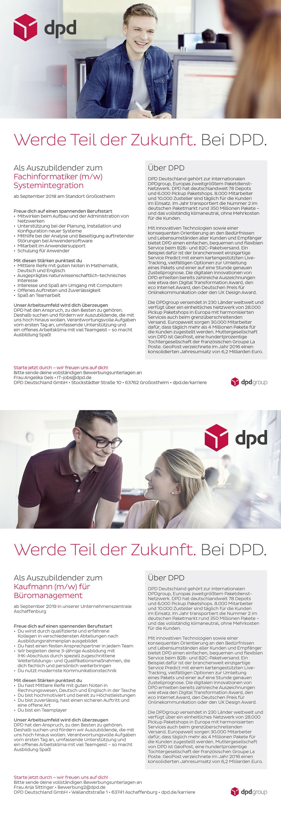 Ausbildungsplakat: DPD Deutschland GmbH