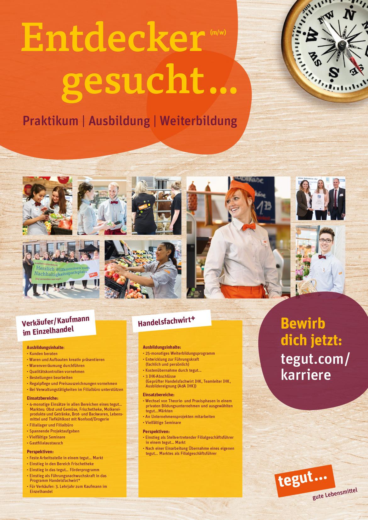 Ausbildungsplakat: tegut in Hanau