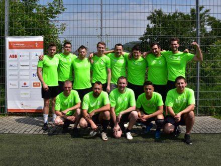 Das Workflow Team beim 7. Strahlemann Firmen-Fußballcup 2018