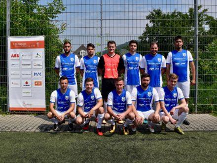Das Team von Jäger direkt beim 7. Strahlemann Firmen-Fußballcup