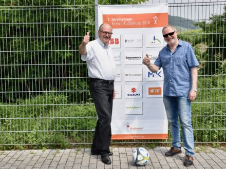 Bundestagsabgeordnete Dr. Michael Meister und Franz-Josef Fischer -7. Strahlemann Firmen-Fußballcup 2018