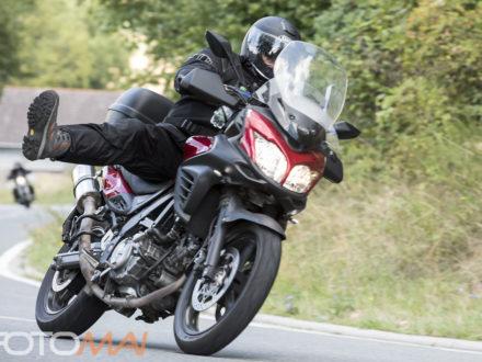 Ein Teilnehmer der Benefiz Motorradtour