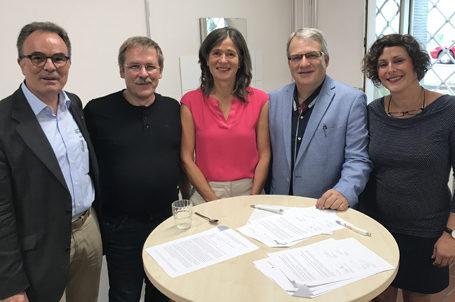 Unterzeichnung der Kooperationsvereinbarung für die Talent Company in Solingen
