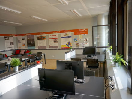 Räumlichkeiten der 31. Talent Company an der Realschule plus Kusel