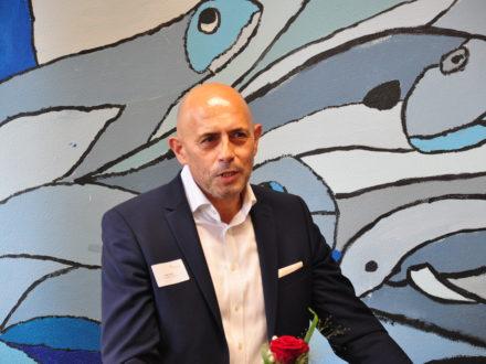 Jacob Geditz, DJH-Vorstandsvorsitzender bei der Eröffnung der 31. Talent Company an der Realschule plus Kusel