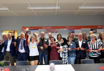 Gruppenbild: Eröffnung der Talent Company in Kusel