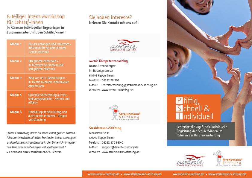 Flyer: PSI Lehrerfortbildung