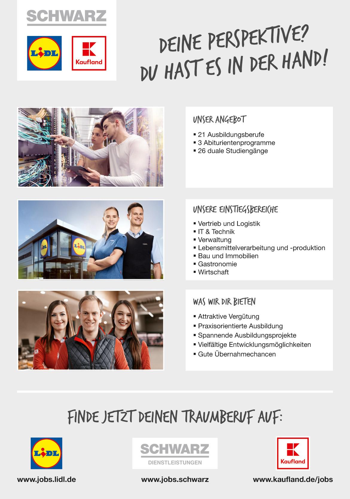 Ausbildungsplakat: Schwarz | LIDL | Kaufland