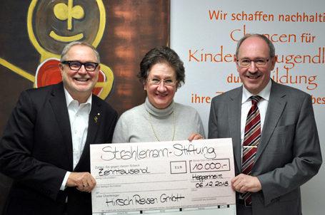 Jubiläumsspende von Hirsch-Reisen über 10.000€