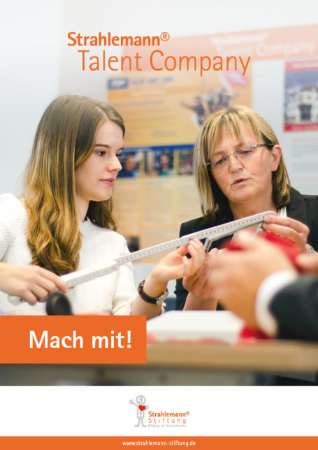 Flyer: Talent Company – Mach mit!