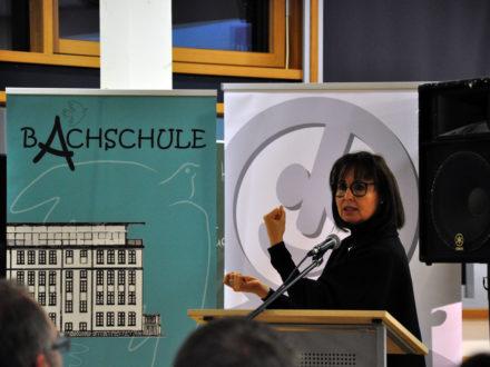 Jutta Rump bei der Feier zum einjährigen Bestehen der Talent Company Bachschule Offenbach