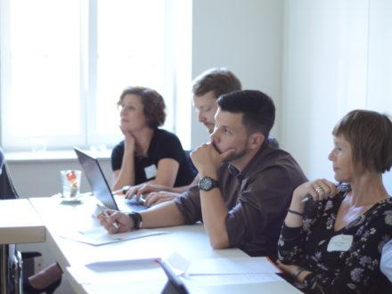 """Teilnehmer der spannenden Workshops rund um das Thema """"zeitgemäße Berufsorientierung in der Schule"""""""