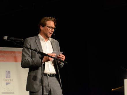 Joachim Bangert (Strahlemann Kuratoriumsmitglied und Vorstand der auxilion AG)