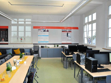 Die Räumlichkeiten der Talent Company an der Gutenbergschule Darmstadt-Eberstadt