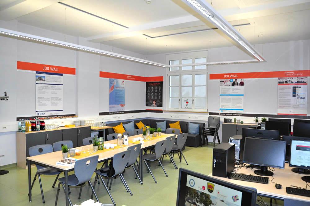 Räumlichkeiten der Talent Company an der Gutenbergschule Darmstadt-Eberstadt