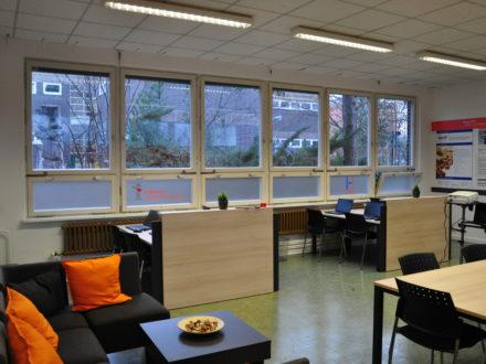 Die Räumlichkeiten der Talent Company der HHS in Berlin