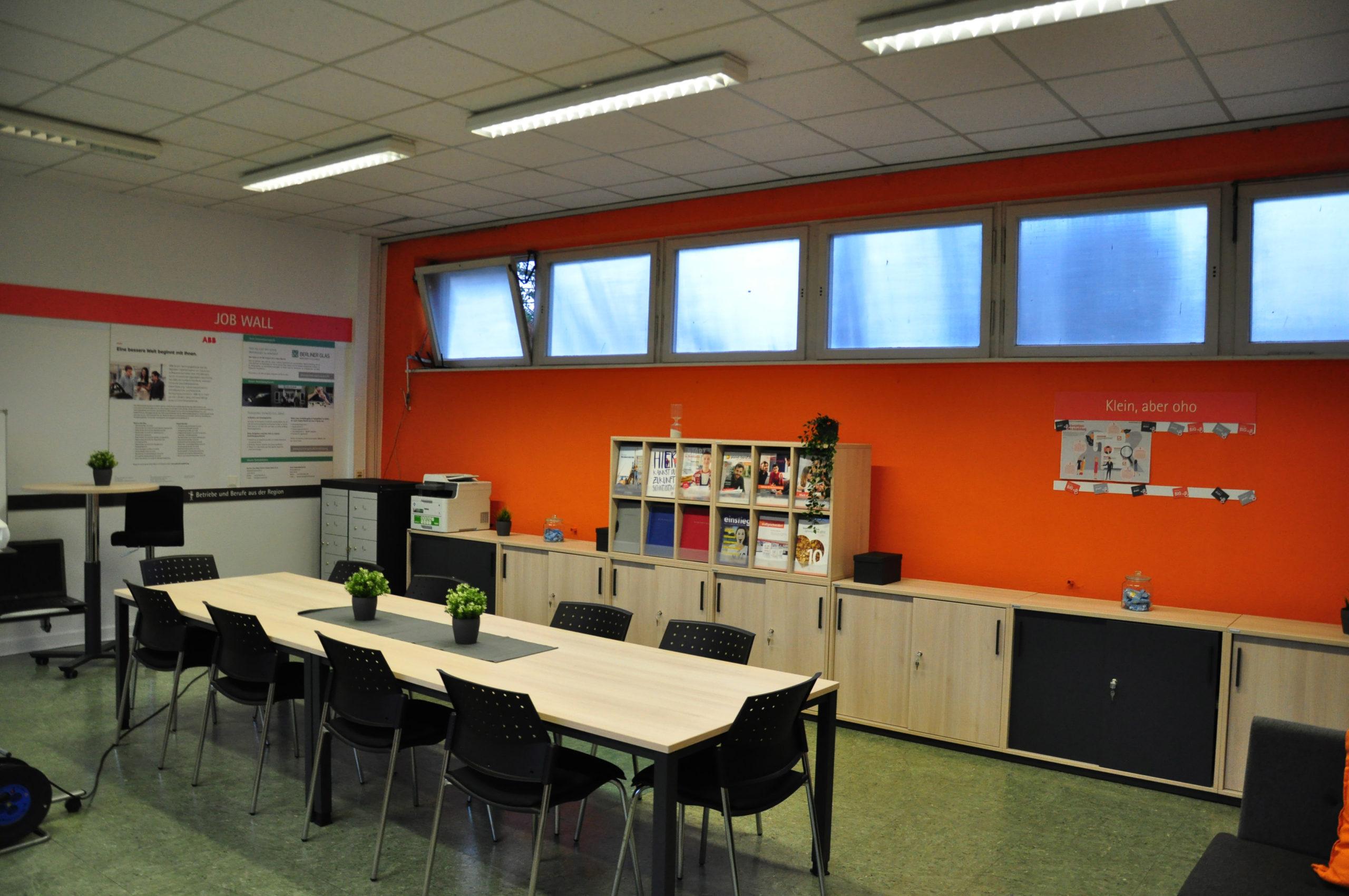 Die Räumlichkeiten der Talent Company der Hermann-von-Helmholtz Schule in Berlin