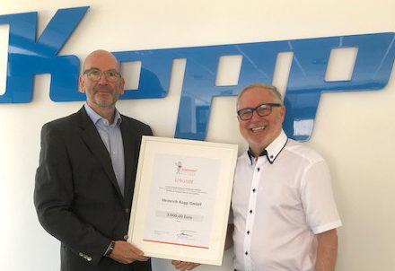 Unsere neuen Stifter 2019: Franz-Josef Fischer und ein Mitarbeiter der Heinrich Kopp GmbH