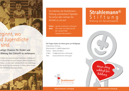 Flyer: Projekte Strahlemann-Stiftung
