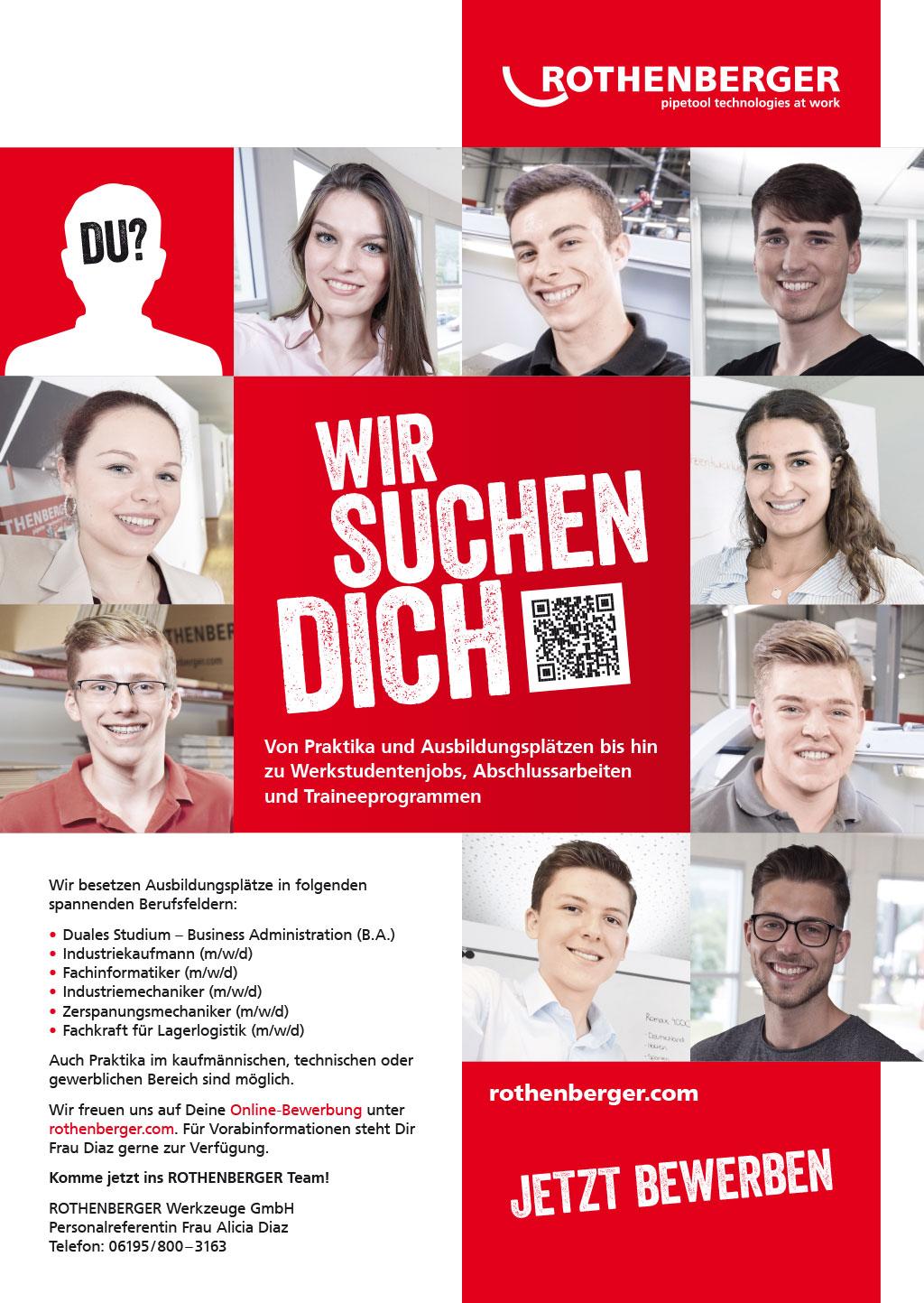 Ausbildungsplakat: ROTHENBERGER Werkzeuge GmbH