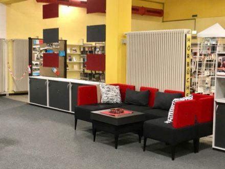 Lounge-Ecke der Talent Company an der OSW in Kassel