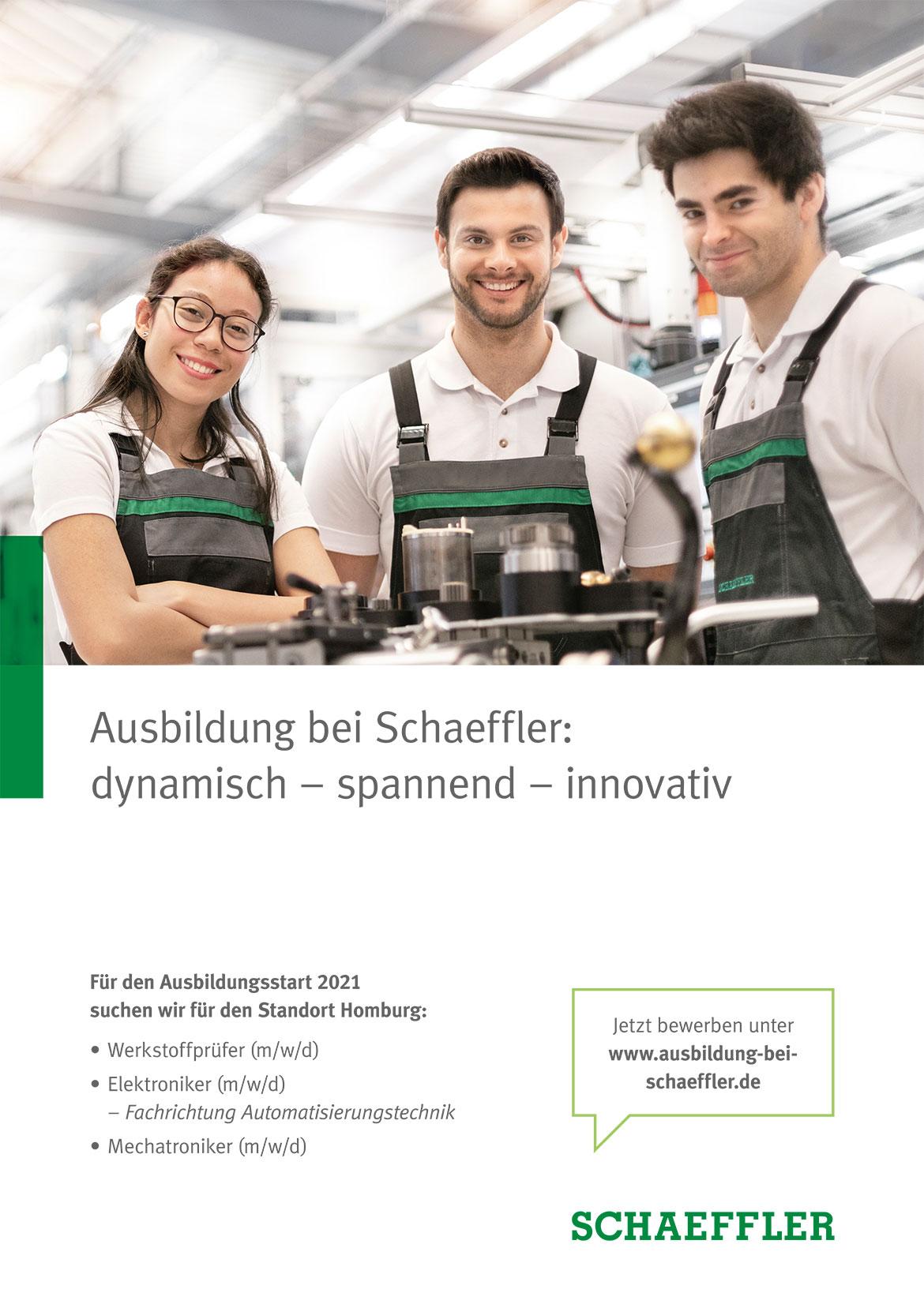 Ausbildungsplakat: Schaeffler Technologies