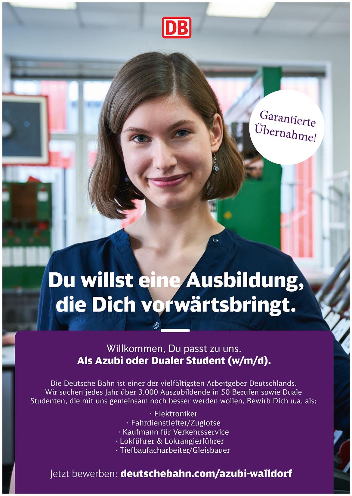 Ausbildungsplakat: Deutsche Bahn Landau