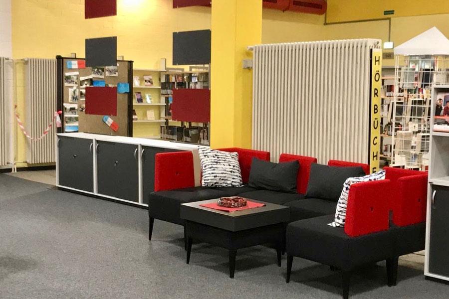 Lounge-Ecke der Talent Company an der Offenen Schule Waldau in Kassel
