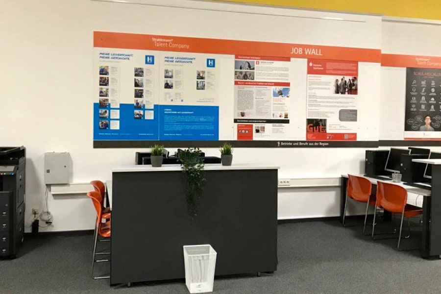Arbeitsplätze der Talent Company an der Offenen Schule Waldau in Kassel