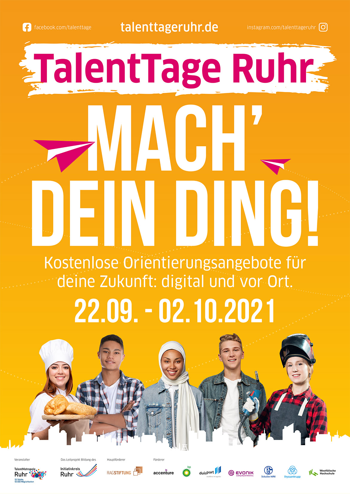 Ausbildungsplakat: TalentMetropole Ruhr