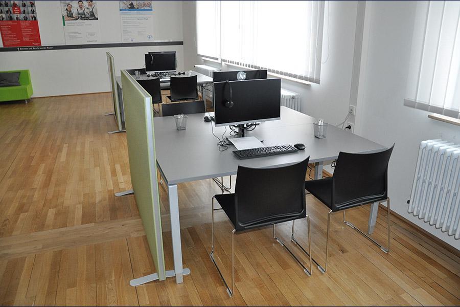 Arbeitsplätze der Talent Company im BBZ Homburg
