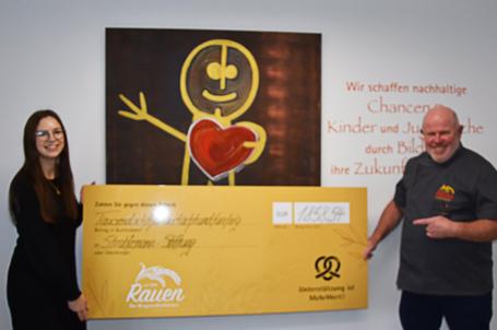 Spendenübergabe der Bäckerei Rauen – 1.858,54 Euro im Rahmen der Mehrwertsteuersenkung