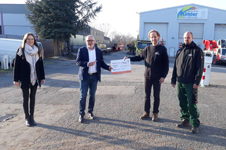 Weihnachtsspende von Köhler Kran-Service GmbH über 5.000 Euro – Herzlichen DANK!