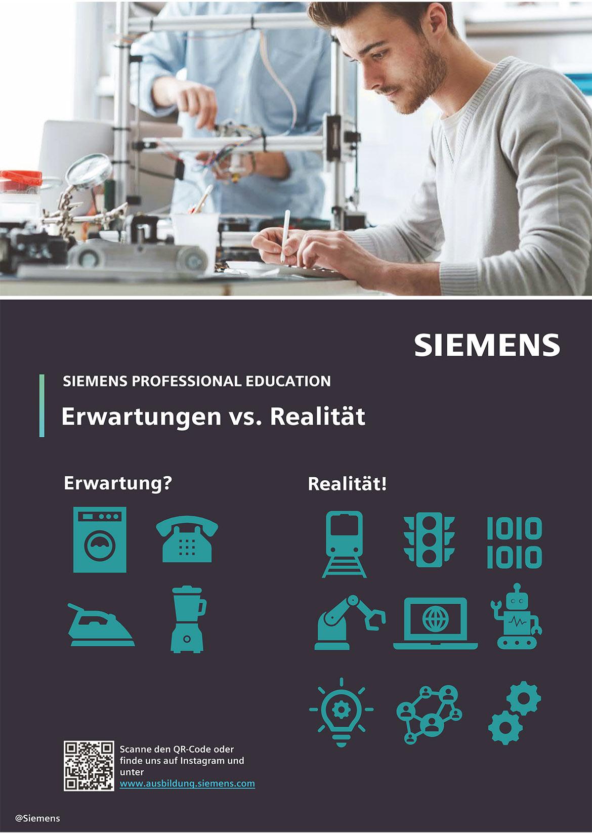 Ausbildungsplakat: Siemens AG