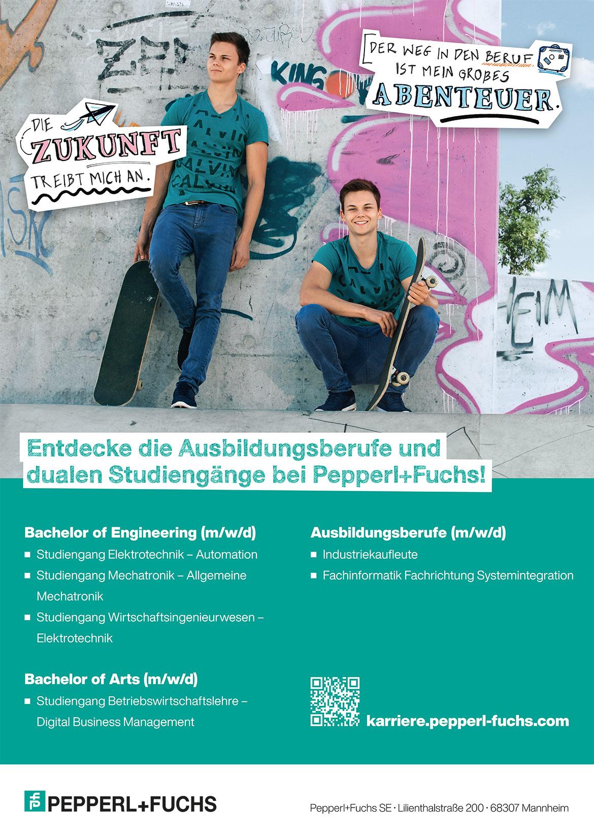Ausbildungsplakat: Pepperl+Fuchs SE