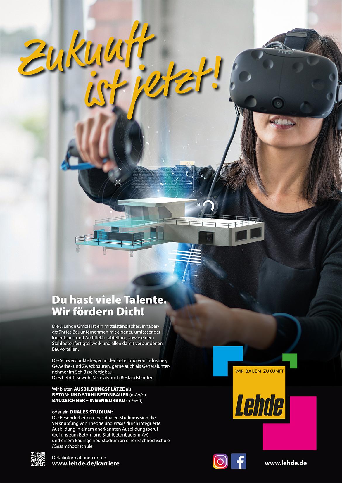 Ausbildungsplakat: J. Lehde GmbH