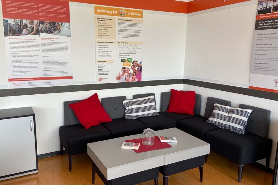 Lounge-Ecke der Talent Company an der FDS in Limburg