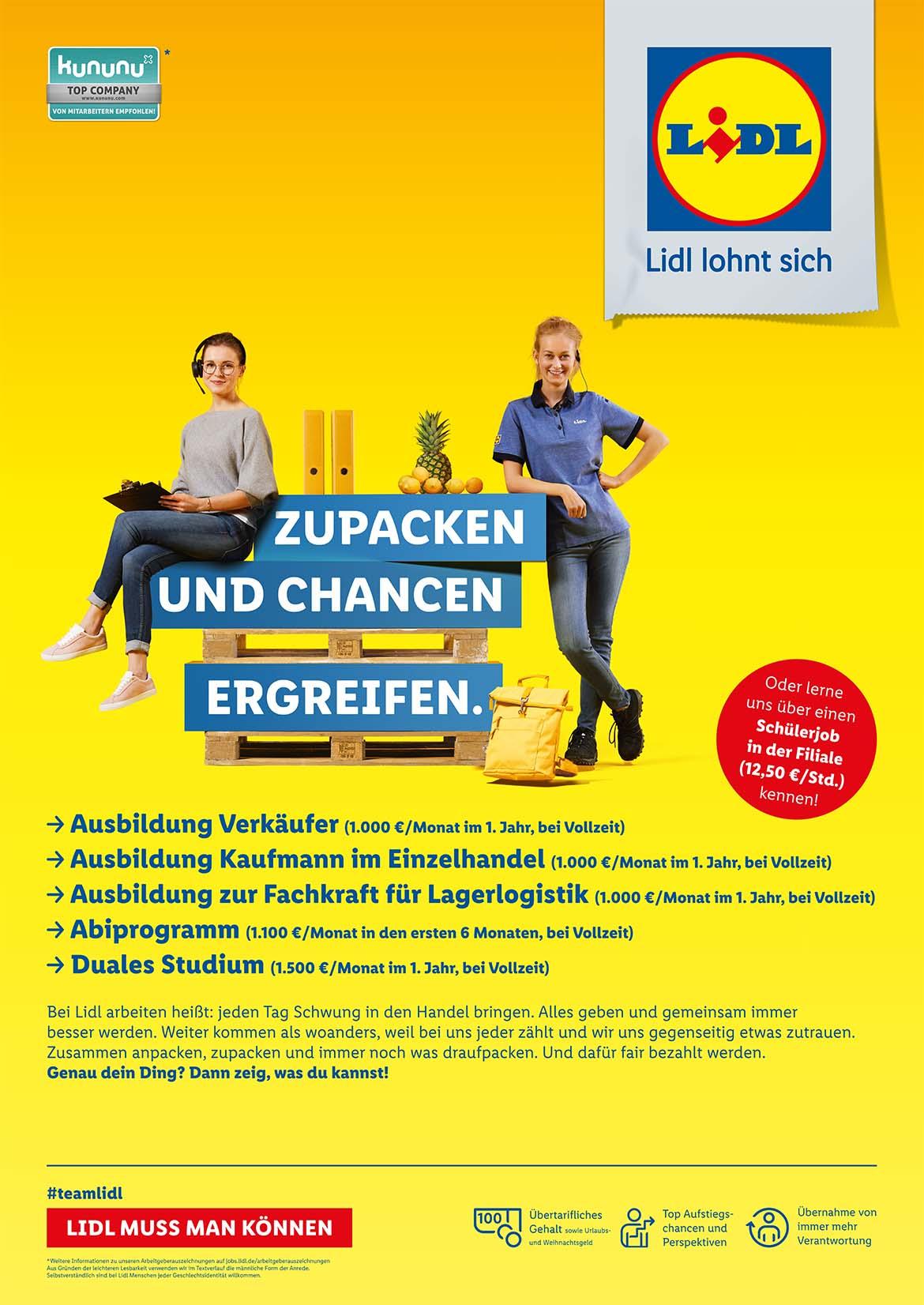 Ausbildungsplakat: Lidl Vertriebs. GmbH & Co. KG Essen