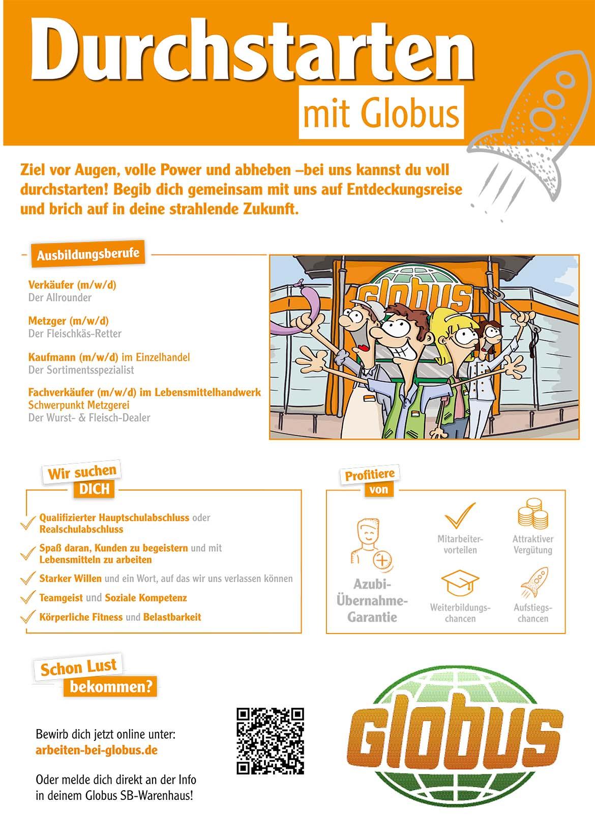 Ausbildungsplakat: Globus Essen